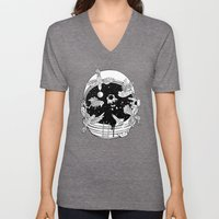 Depth of Discovery (A Case of Constant Curiosity-B/W) Unisex V-Neck