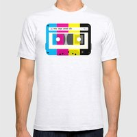 CMYK Mix tape called life Mens Fitted Tee Ash Grey SMALL