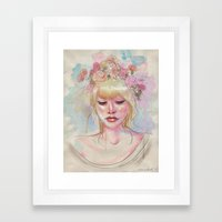 Watercolors And Floral C… Framed Art Print