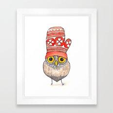 mitten owl Framed Art Print