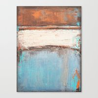 Copper and Blue Abstract Canvas Print