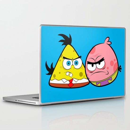 Angry Spongebird - Angry Birds as SpongeBob and Patrick Star Laptop & iPad Skin