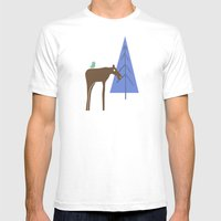 Moose family 1 Mens Fitted Tee White SMALL