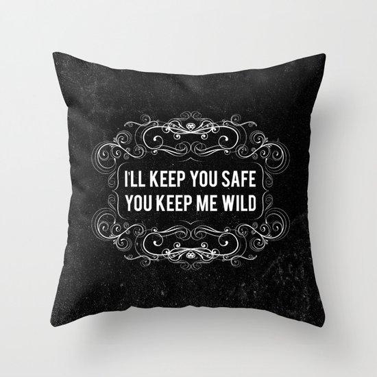 KEEP YOU WILD Throw Pillow