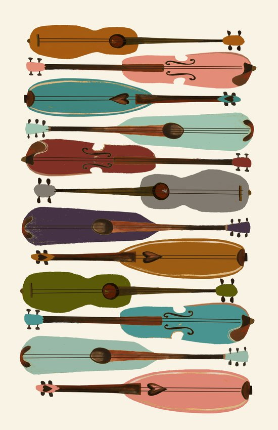Instrument Collection Art Print