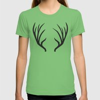 antlers Womens Fitted Tee Grass SMALL