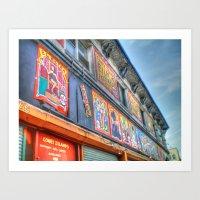 Coney Island USA Buildin… Art Print