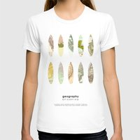 Geography of surfing Womens Fitted Tee White SMALL