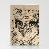 Owls, 2.5 - Original Stationery Cards