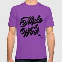Make It Work Mens Fitted Tee Ultraviolet SMALL