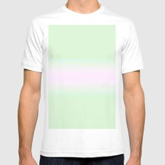 Pink and Green SMALL Mens Fitted Tee White