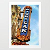 Michigan Theater, Ann Ar… Art Print
