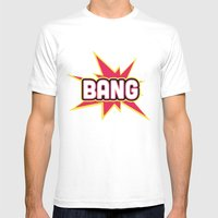 BANG! Mens Fitted Tee White SMALL