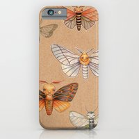iPhone & iPod Case featuring Un-Natural Selection: Carmine Stripee Halloween Moth by Kristin Barr