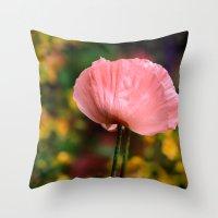 Gorgeous Pink Poppy  Throw Pillow