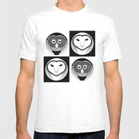Owlmix Mens Fitted Tee White SMALL