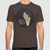 STEVE MARRIOTT, LOST SOUL Mens Fitted Tee Brown SMALL