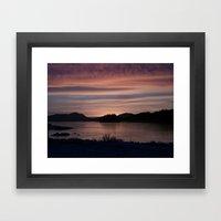 Frozen Sunset 4 - Pale L… Framed Art Print