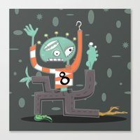 Crazy Alien Canvas Print