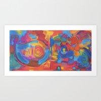 Yin Yang Yog Art Print