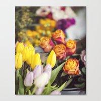 Market Tulips Canvas Print