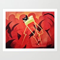 Hell Beneath Our Sheets Art Print