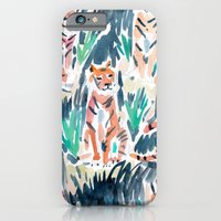 iPhone & iPod Case featuring Sitting Tigers by Barbarian | Barbra Ignatiev