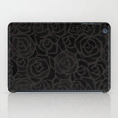 Cluster of Black Roses iPad Case