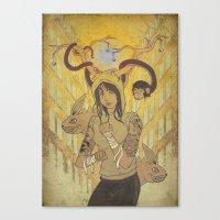 Tammazzo L'anima Di Pugn… Canvas Print