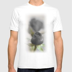 A Black Rose for your Sweetheart White Mens Fitted Tee SMALL