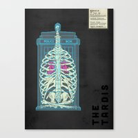 Spaceship Skeletal Surve… Canvas Print