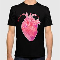 Heartbeats 2 Mens Fitted Tee Black SMALL