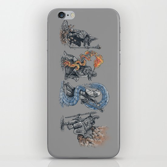 earth - fire - water - (bad) air iPhone & iPod Skin