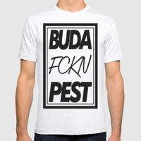 Buda Fckn Pest Mens Fitted Tee Ash Grey SMALL