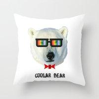 Coolar Bear Throw Pillow