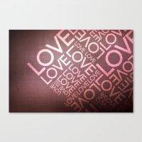 L O V E {I} Canvas Print