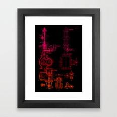 Steam pipe Framed Art Print