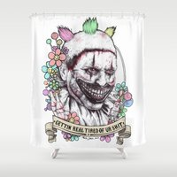 xoxo Twisty (color) Shower Curtain