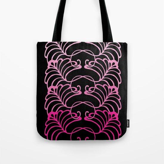 Flower Fan in Ombre Pink Tote Bag