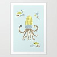 Squidoo Art Print
