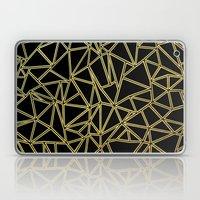 Abstract Blocks Gold Laptop & iPad Skin