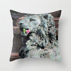 Lion in Vienna Throw Pillow