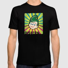 Discern Black SMALL Mens Fitted Tee
