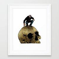 Leroy And The Giant's Giant Skull Framed Art Print