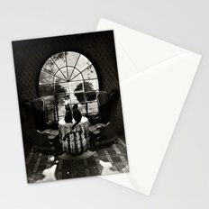 Room Skull B&W Stationery Cards
