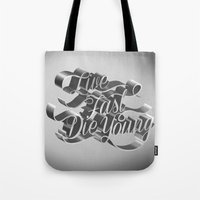 Live Fast Die Young - Black and White Tote Bag