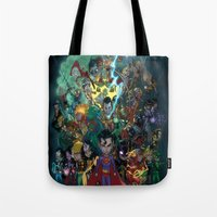 Tote Bag featuring Lil' Super Friends by Sheep-n-Wolves Clothing