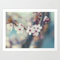 Cherry-tree Art Print