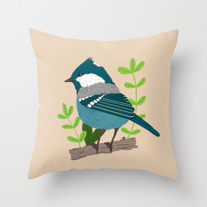 Blue Bird Throw Pillows : Blue bird Throw Pillow by Janko. Society6