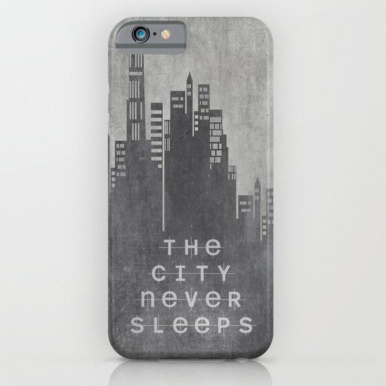 The City Never Sleeps iPhone & iPod Case
